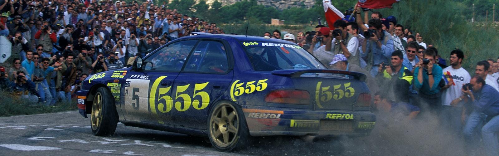 1995, Catalunya Spain Rally, Sainz, Carlos, Subaru Impreza 555, Action