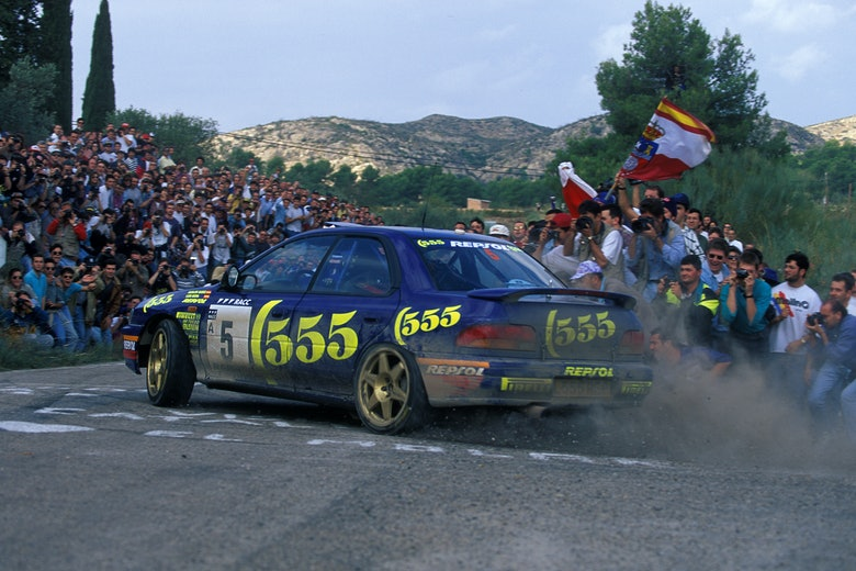 1995, Catalunya Spain Rally, Sainz, Carlos, Subaru Impreza 555, Action
