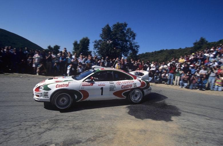 196432 1995, Tour de Corse, Auriol, Didier, Toyota Celica ST 205, Action