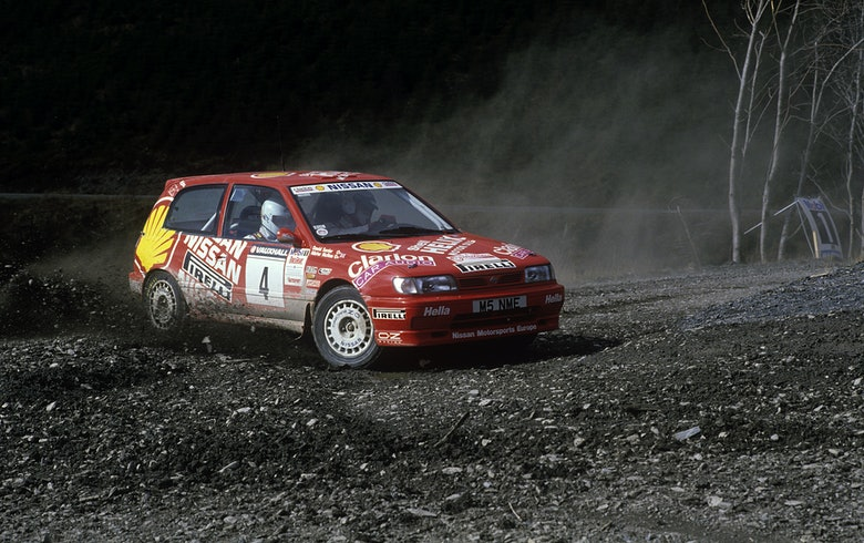 196437 1995, Welsh Rally, McRae, Alister, Nissan Sunny GTi, Action