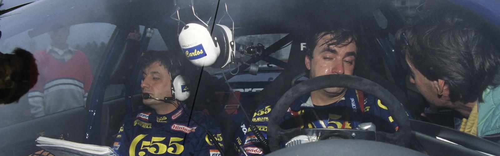 52256 1995, Portugal Rally, Moya, Luis, Sainz, Carlos, Subaru Impreza 555, Portrait