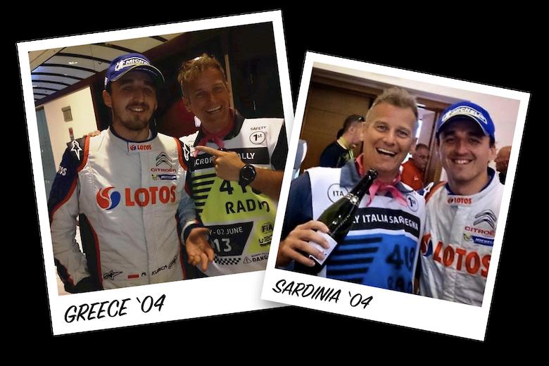 Colin Clark and Robert Kubica, WRC 2004, Rally Italia Sardegna and Rally Acropolis