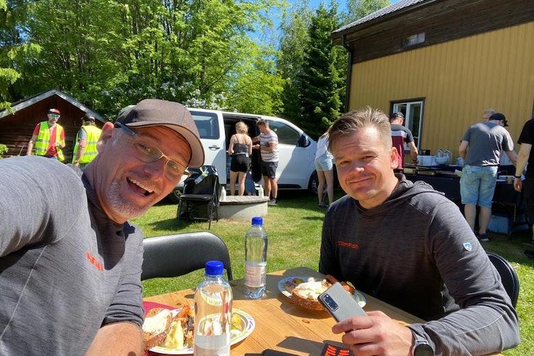 Colin Clark and Heikki Barsk, Toyota WRC testing in Finland, 15 June 2020