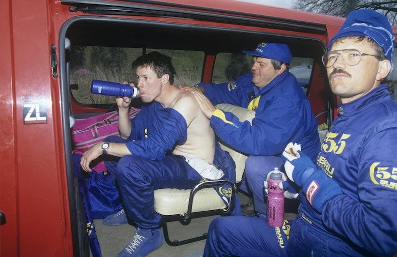 Colin McRae and Possum Bourne, 1993 Rally New Zealand, Subaru World Rally Team