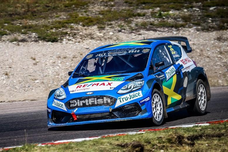 Fraser McConnell (Olsbergs MSE) – Ford Fiesta Mk8 – 2020 RallyX Nordic 'All-Star' Magic Weekend – Holjes