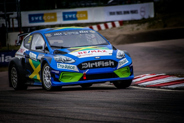 Fraser McConnell (Olsbergs MSE) - Ford Fiesta Mk8 - 2020 RallyX Nordic 'All-Star' Magic Weekend - Holjes
