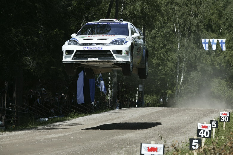 Markko Martin / Michael Park - Ford Fiesta WRC03 - 2003 WRC Rally Finland - Ouninpohja