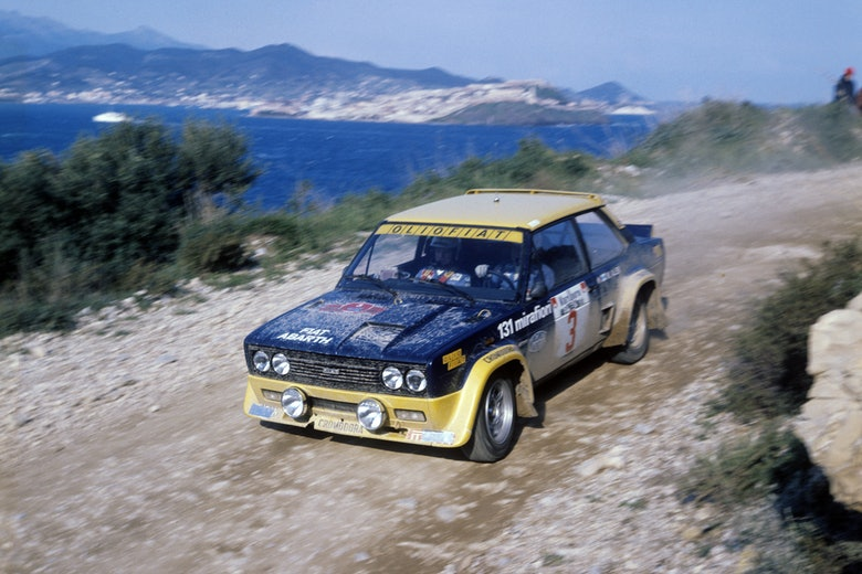 1976, Elba Rally, Alen, Markku, Fiat 131 Abarth Mirafiori, European Rally Champ., Action