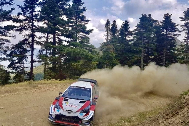 Sebastien Ogier Toyota WRC testing