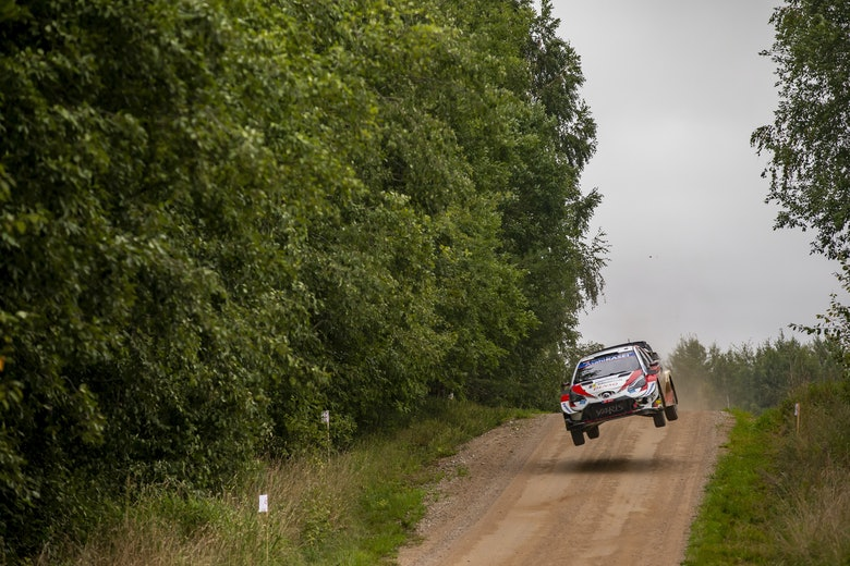 Elfyn Evans Toyota WRC Rally Estonia 2020