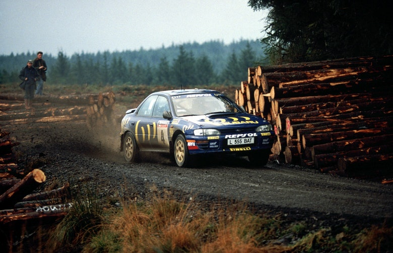 Colin McRae winning at RAC Rally 1994