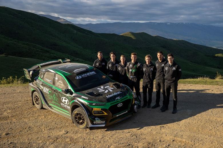 Hyundai EV rally car _team Graeme Murray Photography