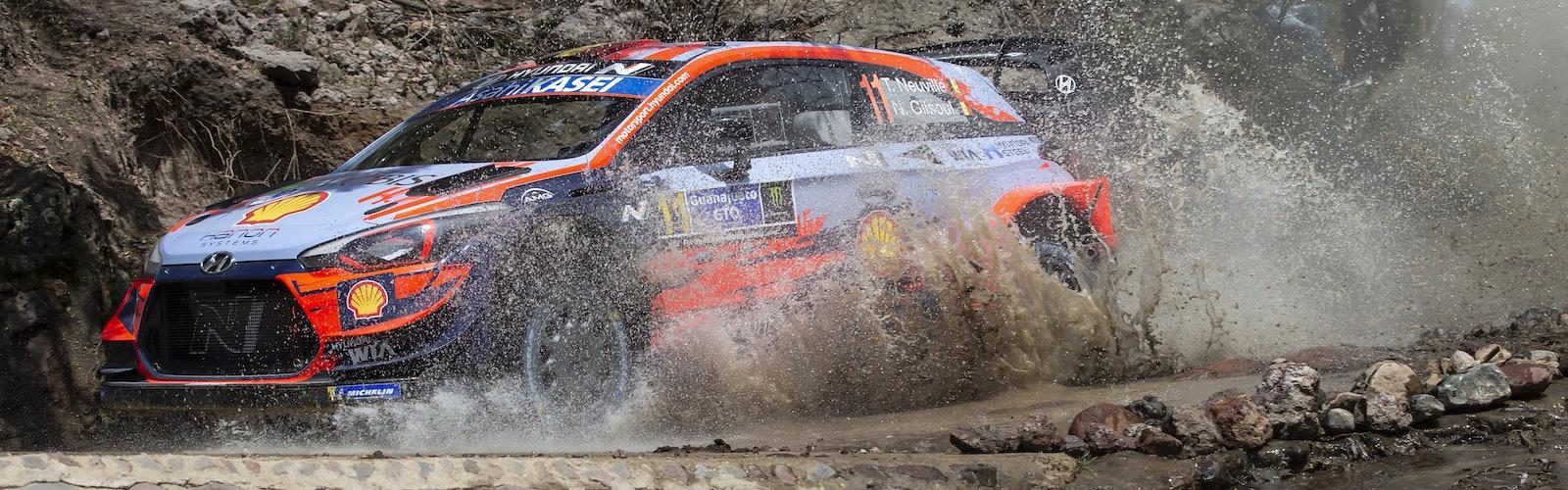 Neuville Hyundai Mexico WRC