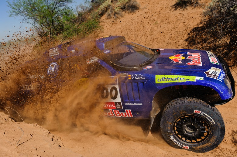 Carlos Sainz and Lucas Cruz - action