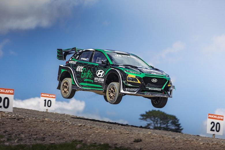 Hayden Paddon Kona EV Jacks Ridge Rallysprint by Richard Opie
