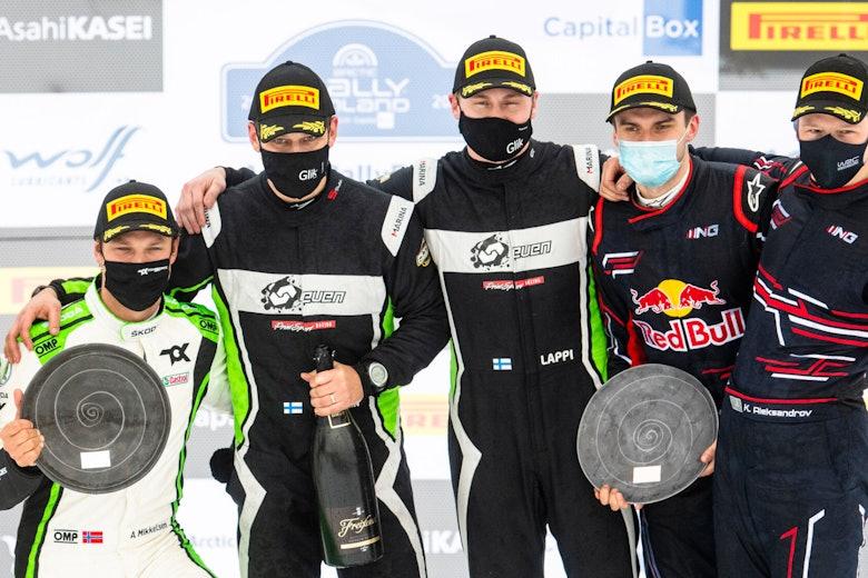 Esapekka Lappi, Andreas Mikkelsen and Nikolay Gryazin