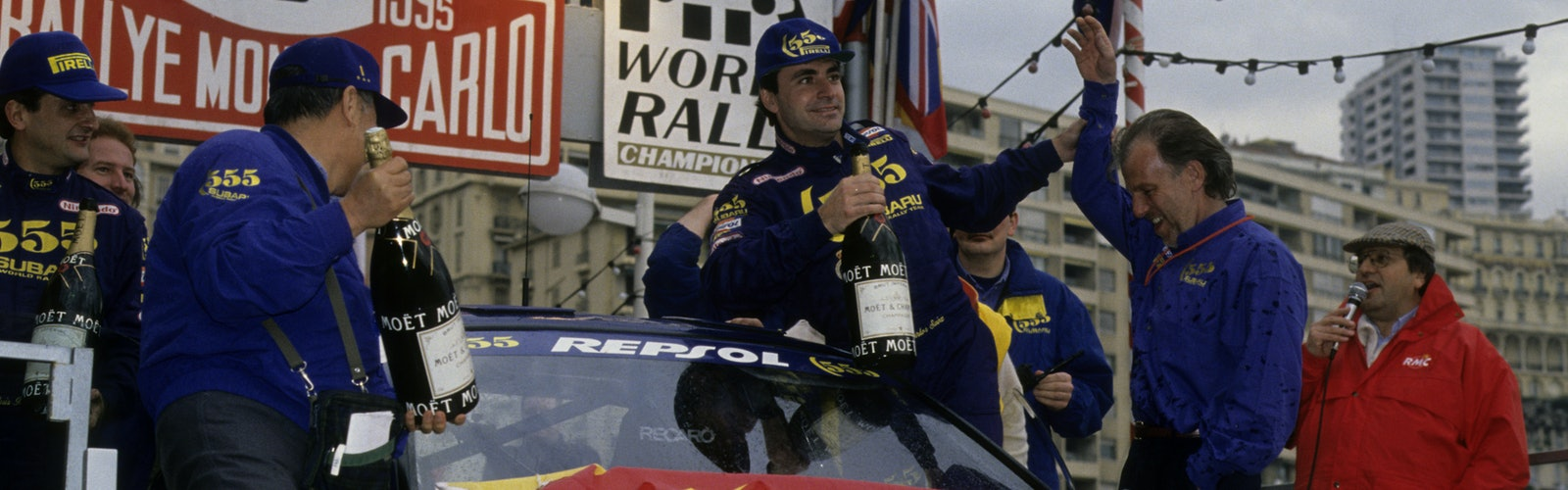 Carlos Sainz Subaru wins WRC Monte Carlo Rally 1995