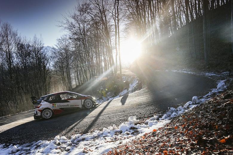Sebastien Ogier Toyota WRC testing 2020