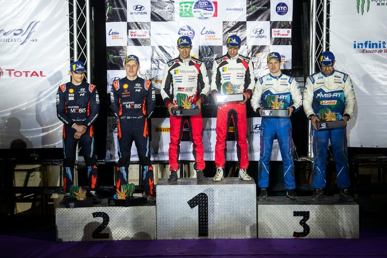 Rally Mexico WRC podium