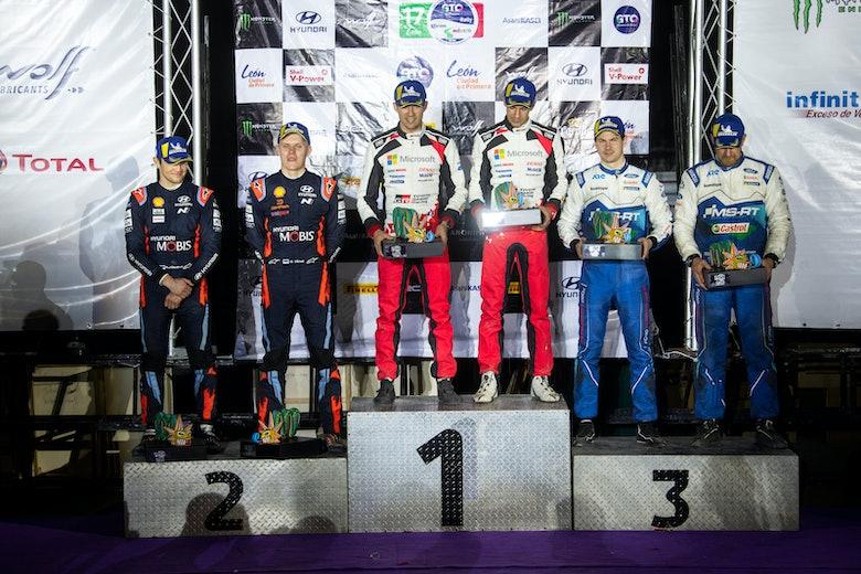 Rally Mexico WRC podium