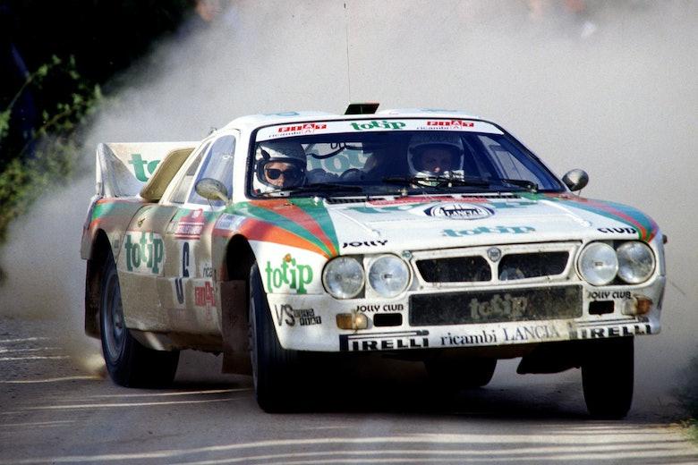 Miki Biaision Jolly Club Lancia WRC Sanremo Rally 1984