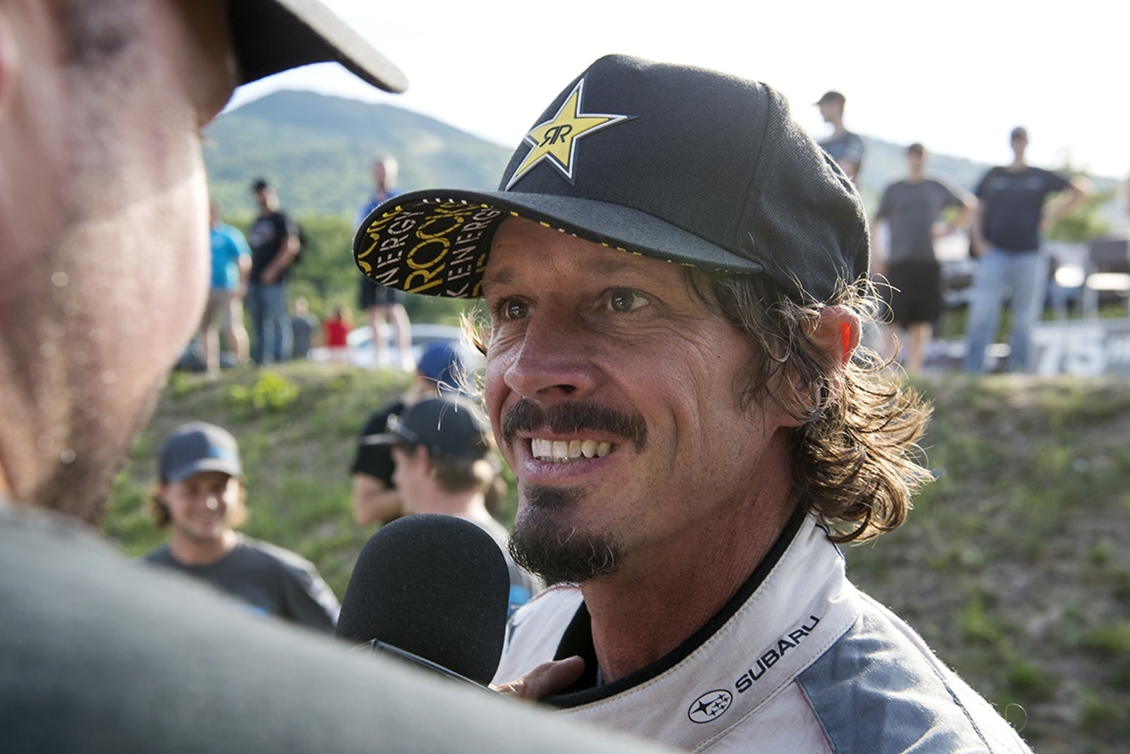 Bucky Lasek is all smiles after a strong showing at New England Forest Rally