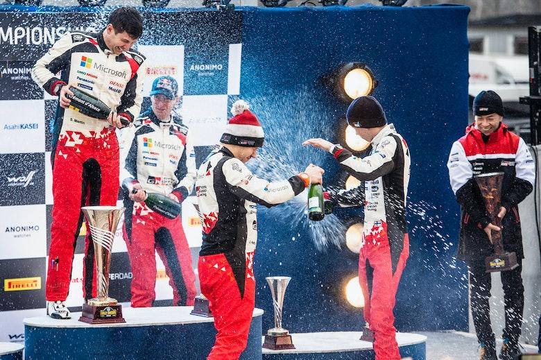 Rally Sweden podium