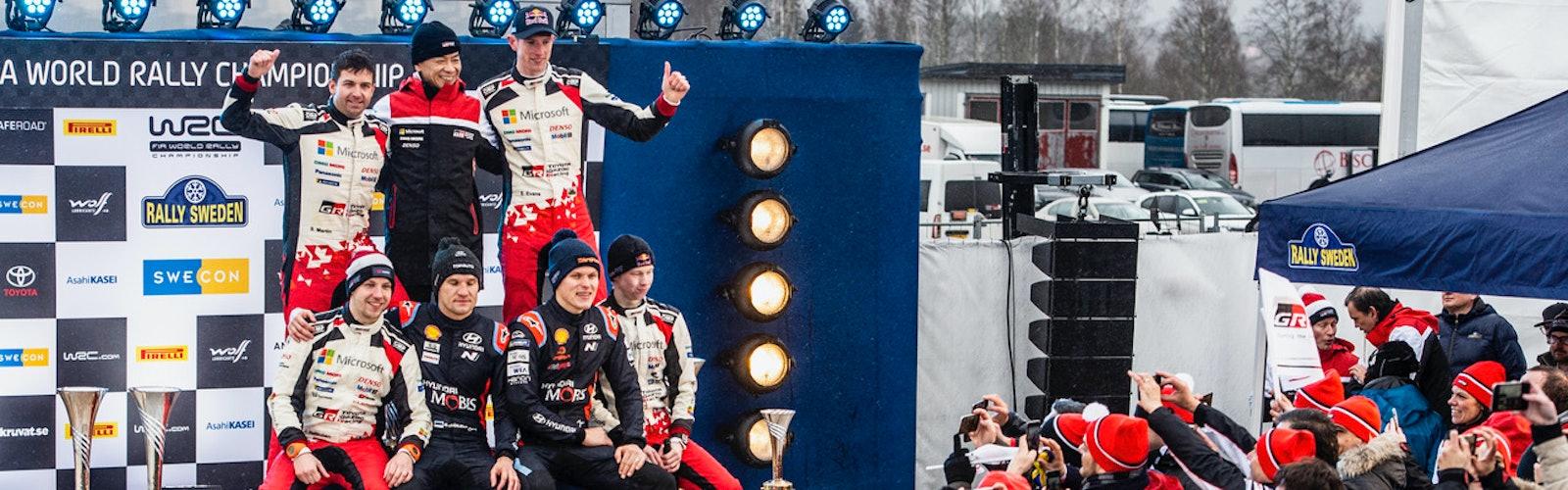 Rally Sweden podium 2020