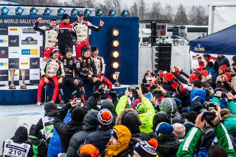 Rally Sweden podium 2020
