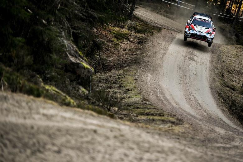 Elfyn Evans Toyota WRC Rally Sweden 2020