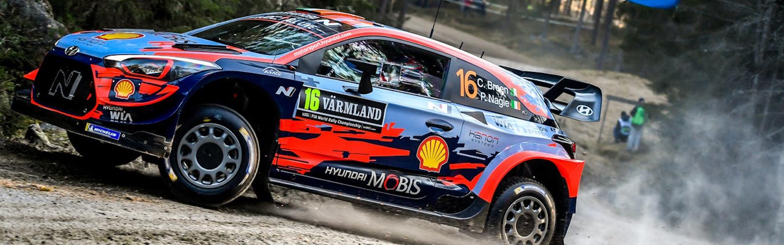 Craig Breen Hyundai WRC Rally Sweden 2020