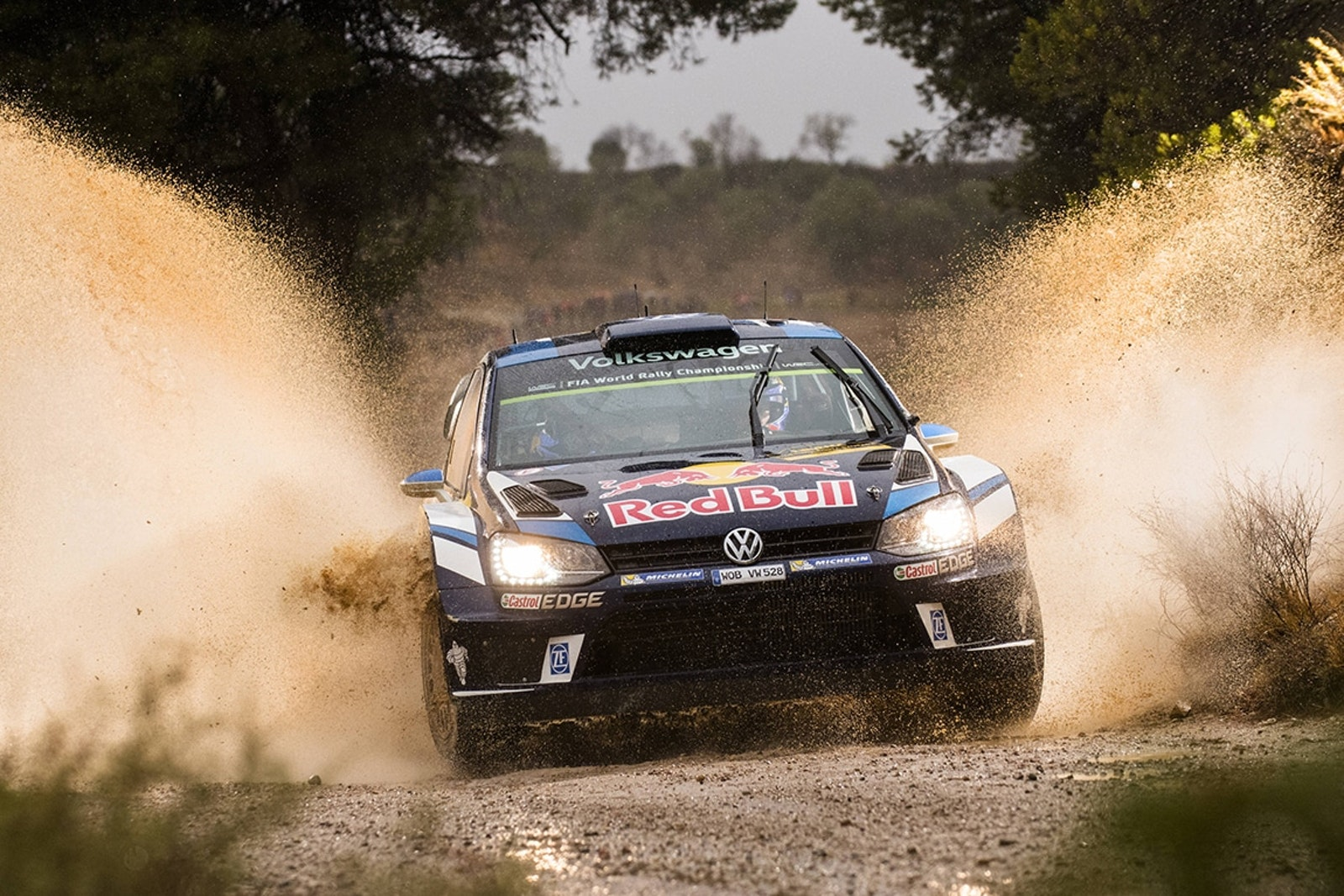 Sebastien Ogier (FRA) performs during FIA World Rally Championship 2016 Spain in Salou , Spain  on 14 October 2016 // Jaanus Ree/Red Bull Content Pool // P-20161014-00868 // Usage for editorial use only // Please go to www.redbullcontentpool.com for further information. //