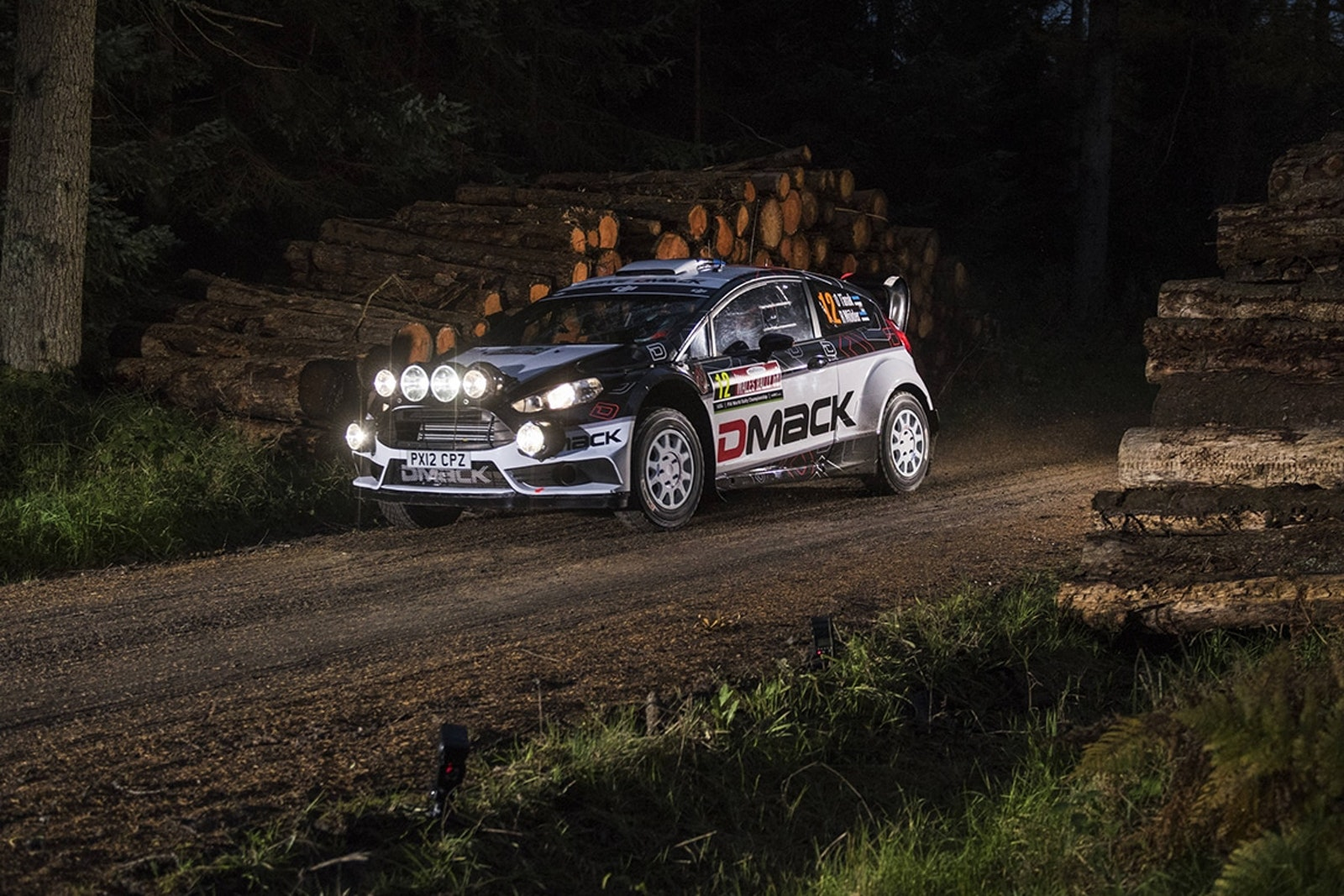 Ott Tanak performs during FIA World Rally Championship in Deeside, Great Britain on 27  November 2016 // Jaanus Ree/Red Bull Content Pool // P-20161027-00763 // Usage for editorial use only // Please go to www.redbullcontentpool.com for further information. //