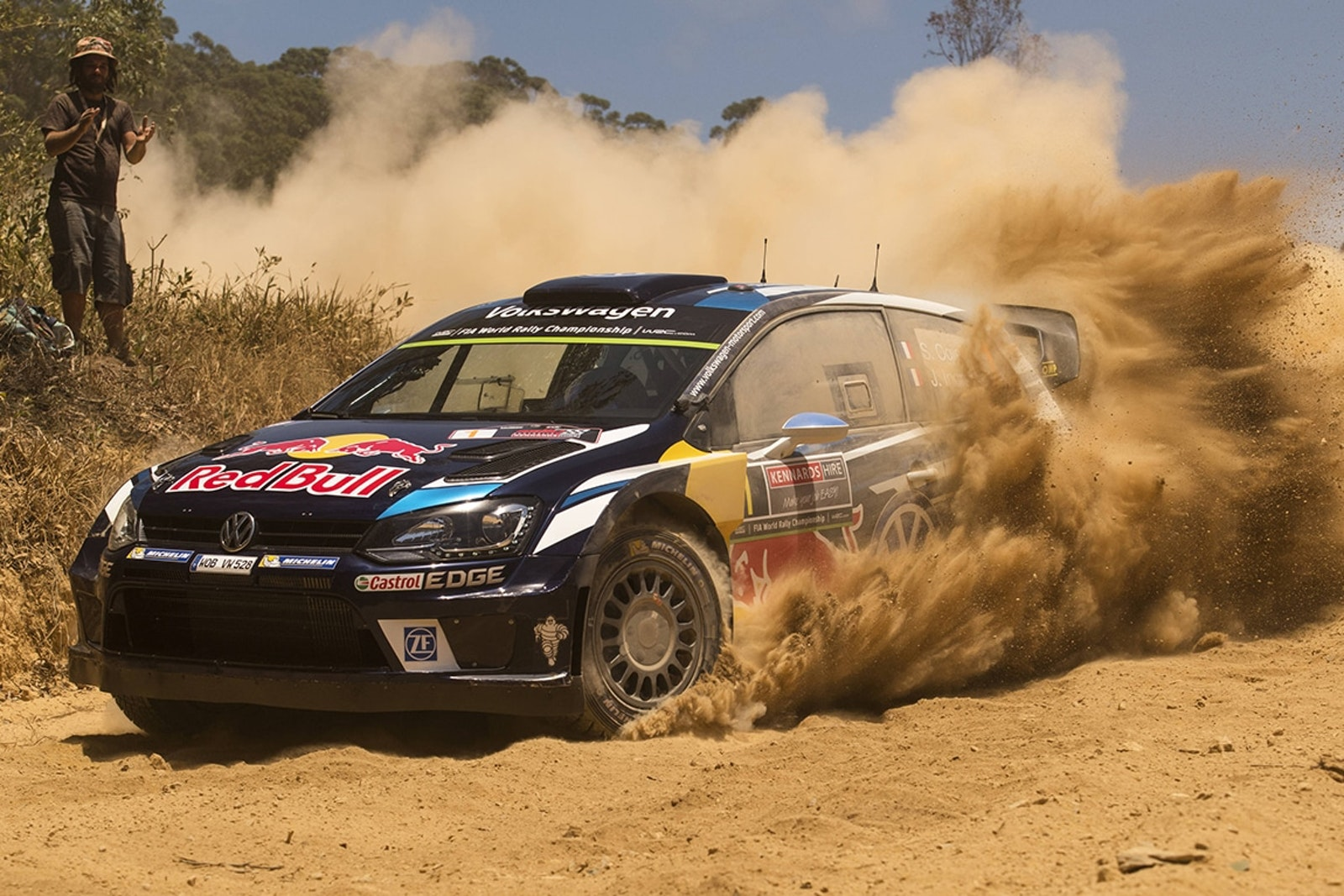 Sebastien Ogier (FRA) performs during the FIA World Rally Championship Australia 2016 in Coffs Harbour on November 19, 2016 // Jaanus Ree/Red Bull Content Pool // P-20161120-00482 // Usage for editorial use only // Please go to www.redbullcontentpool.com for further information. //