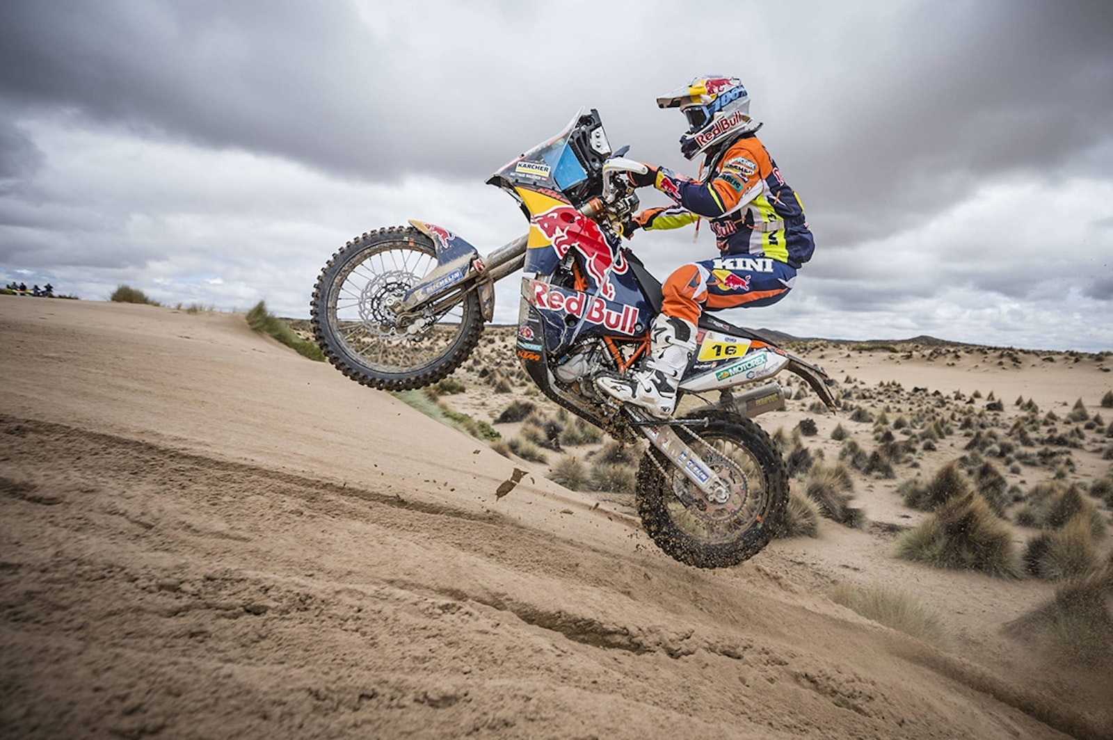 Matthias Walkner (AUT) of Red Bull KTM Factory Team races during stage 07 of Rally Dakar 2017 from La Paz to Uyuni, Bolivia on January 09, 2017 // Marcelo Maragni/Red Bull Content Pool // P-20170109-01362 // Usage for editorial use only // Please go to www.redbullcontentpool.com for further information. //
