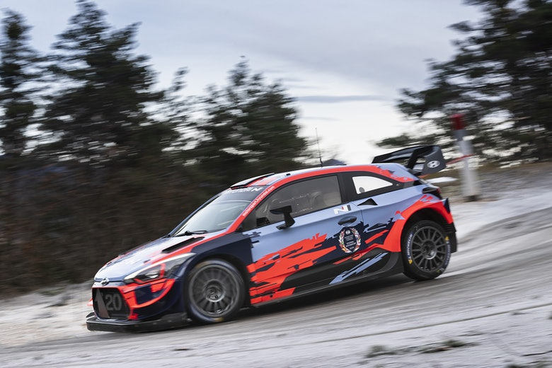Ott Tanak Hyundai WRC 2020 test