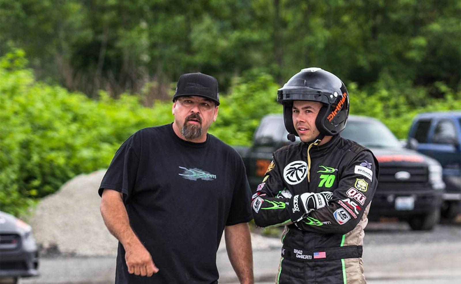 Brad DeBerti and Doug DeBerti training at DirtFish