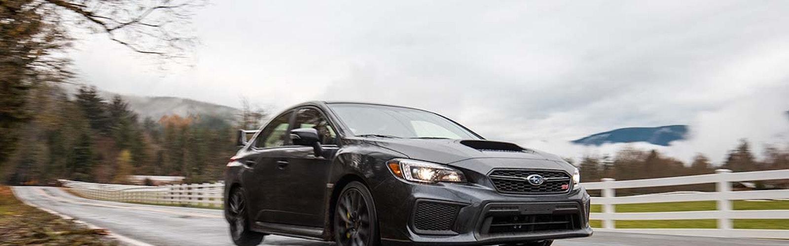 Subaru-Wet-Road