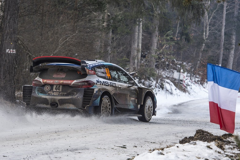 Gus Greensmith M-Sport Ford Monte Carlo Rally WRC 2020