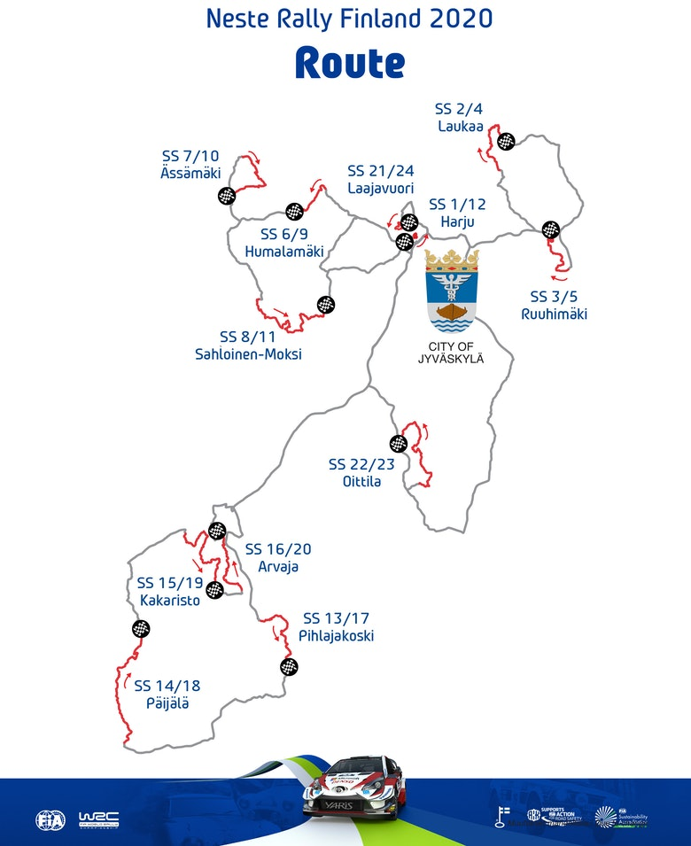 Rally Finland map