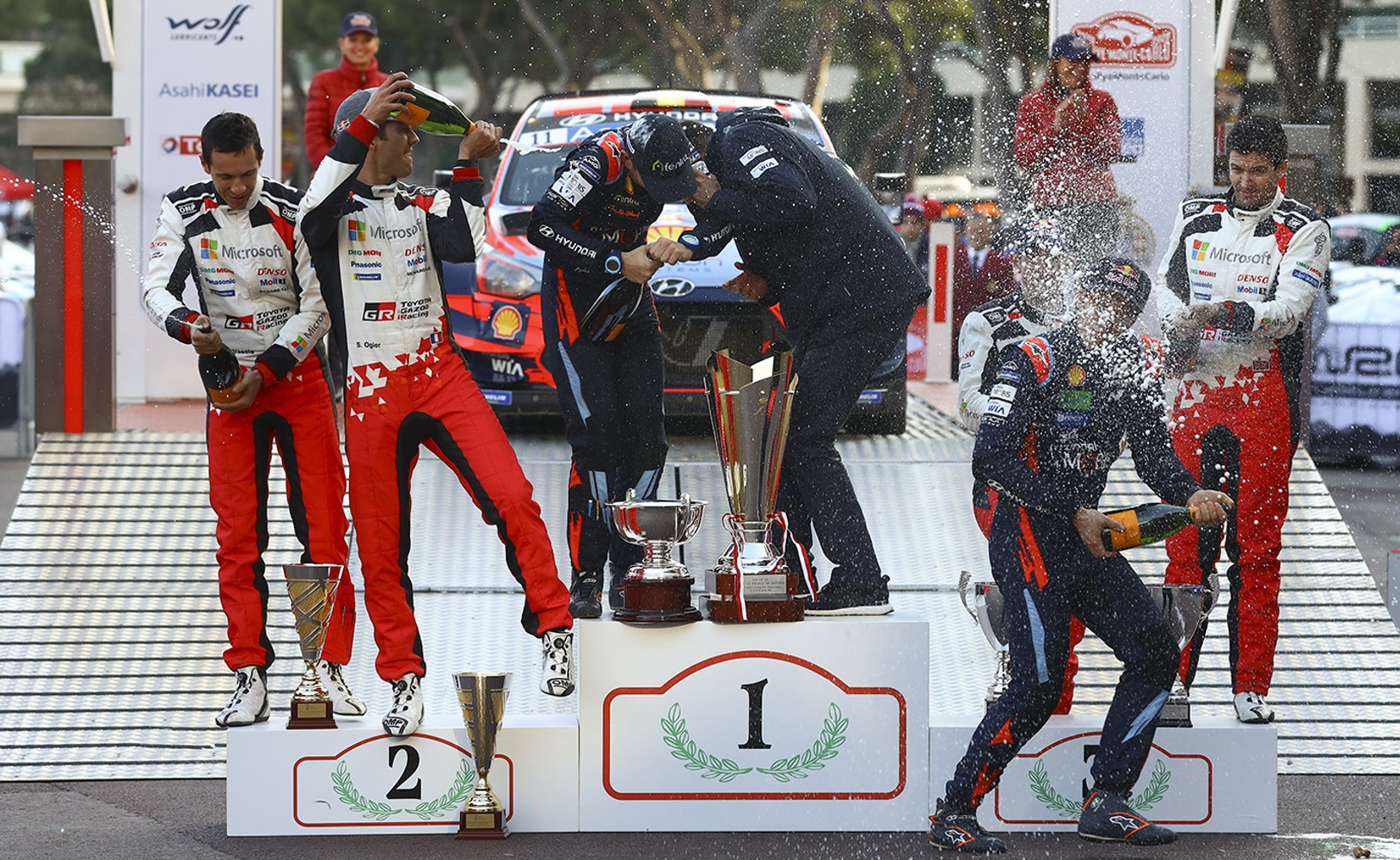Monte Carlo Rally podium 2020