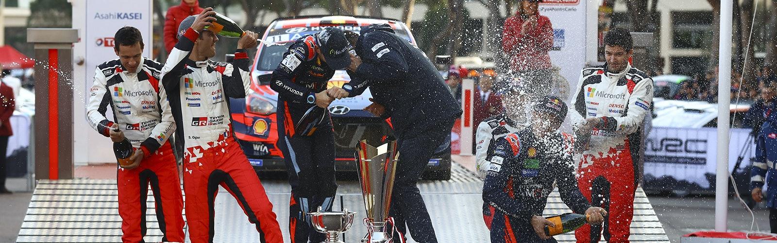Monte Carlo Rally podium 2020